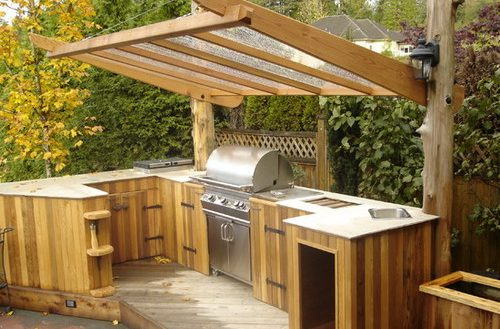 different types of outdoor kitchen