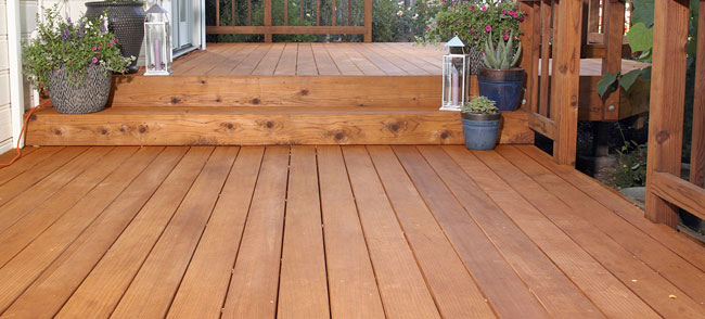 sealing the stain on your deck