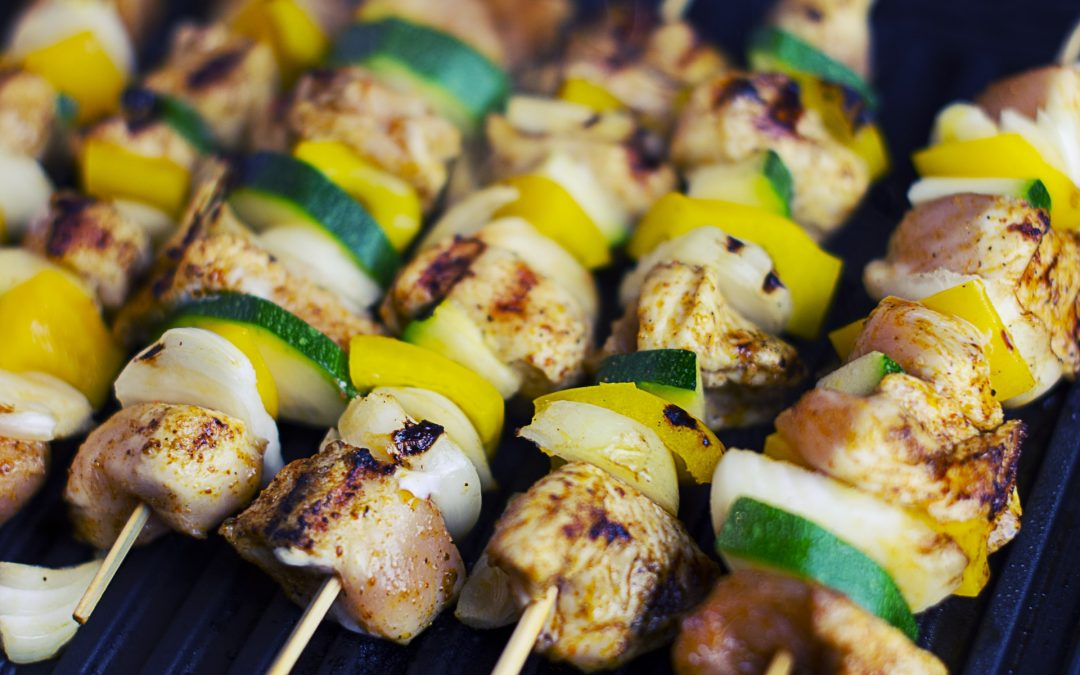 How to Assemble Kabobs on the Grill