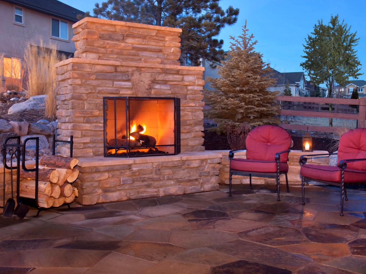 Extension Outdoor Fireplace