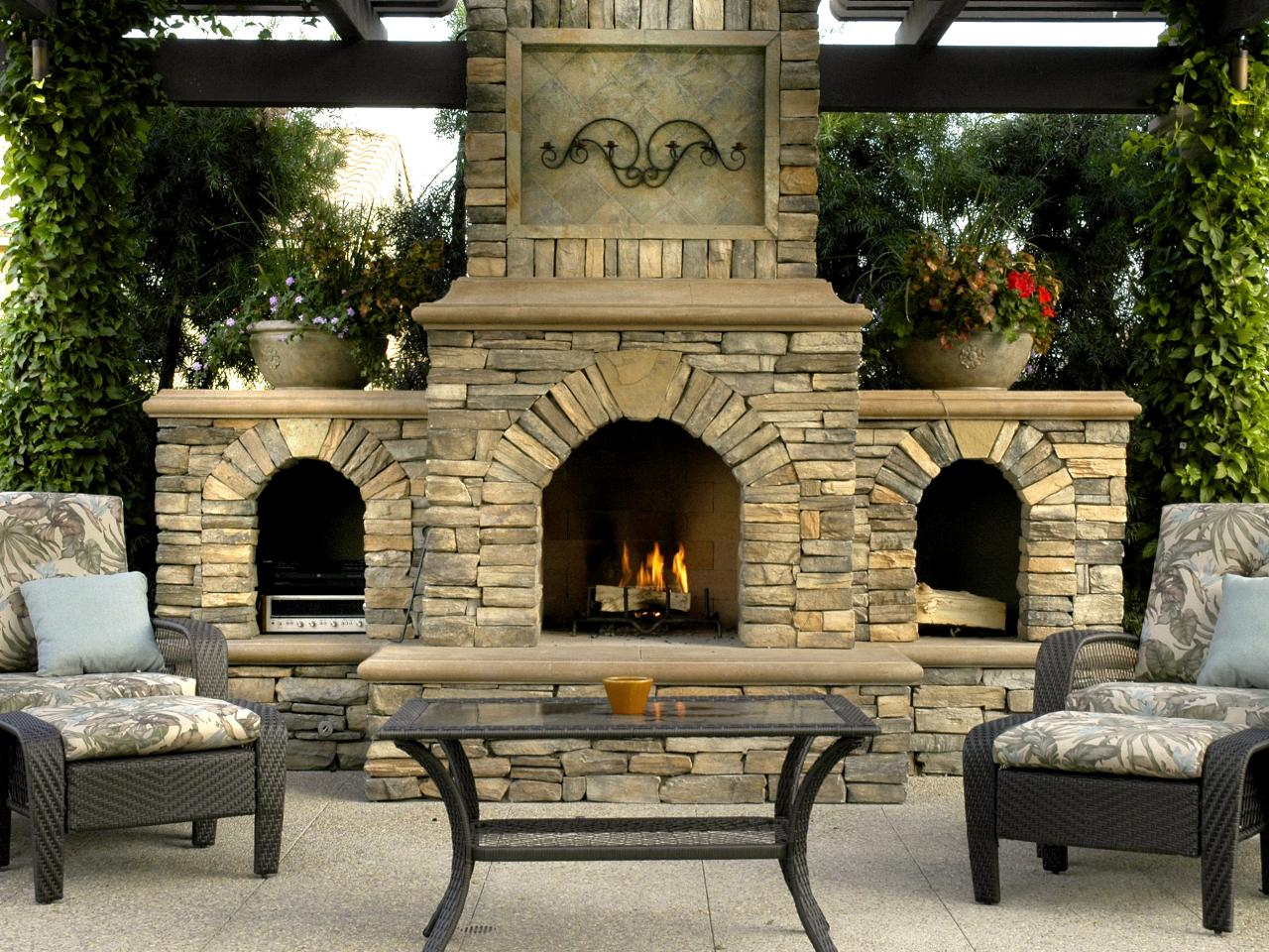 Focal Point Outdoor Fireplace