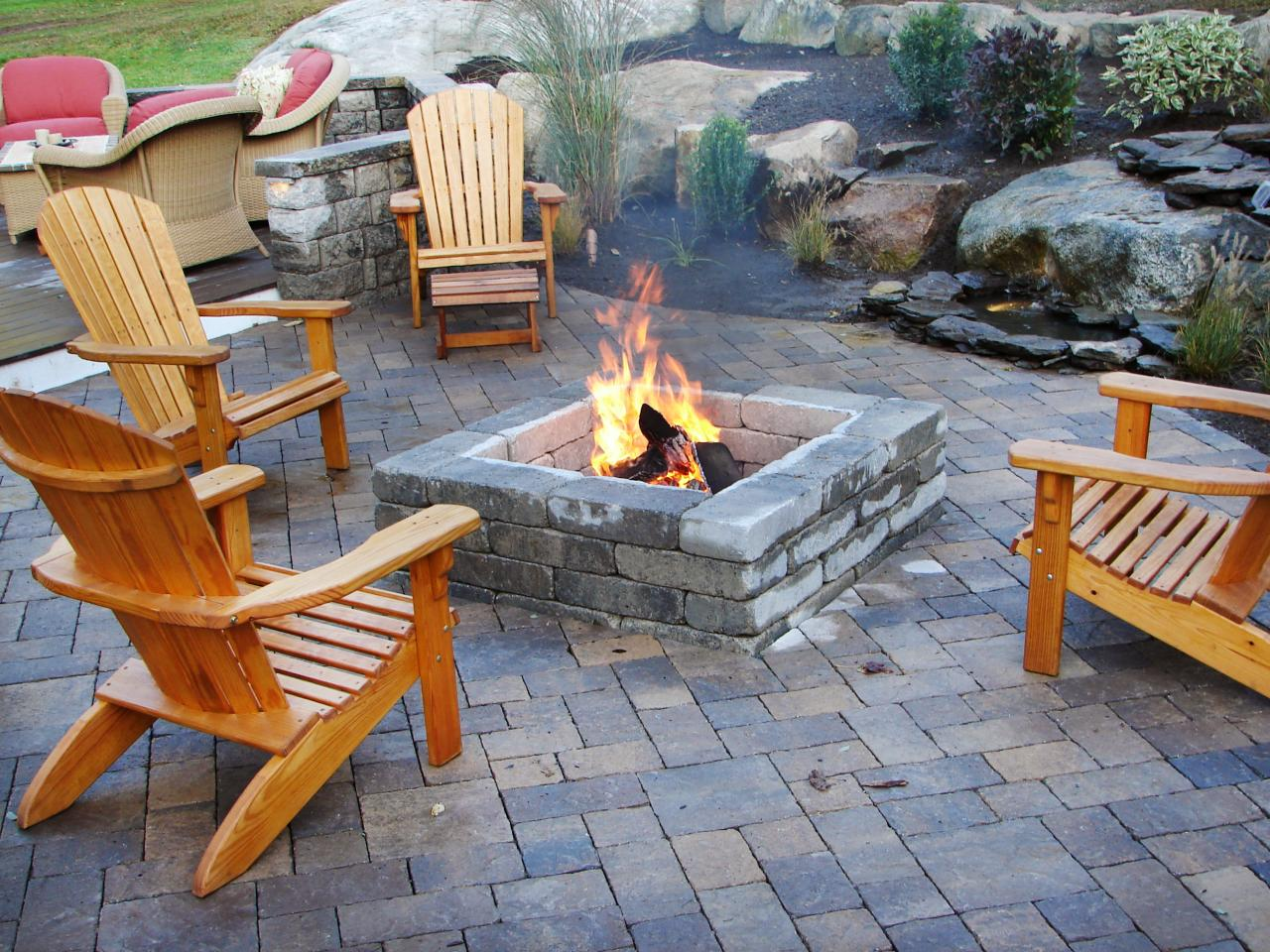 Flame Outdoor Fireplace