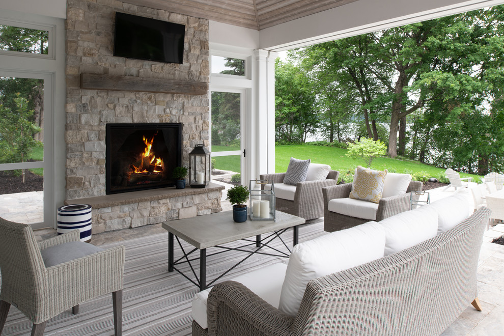 Porch Outdoor Fireplace