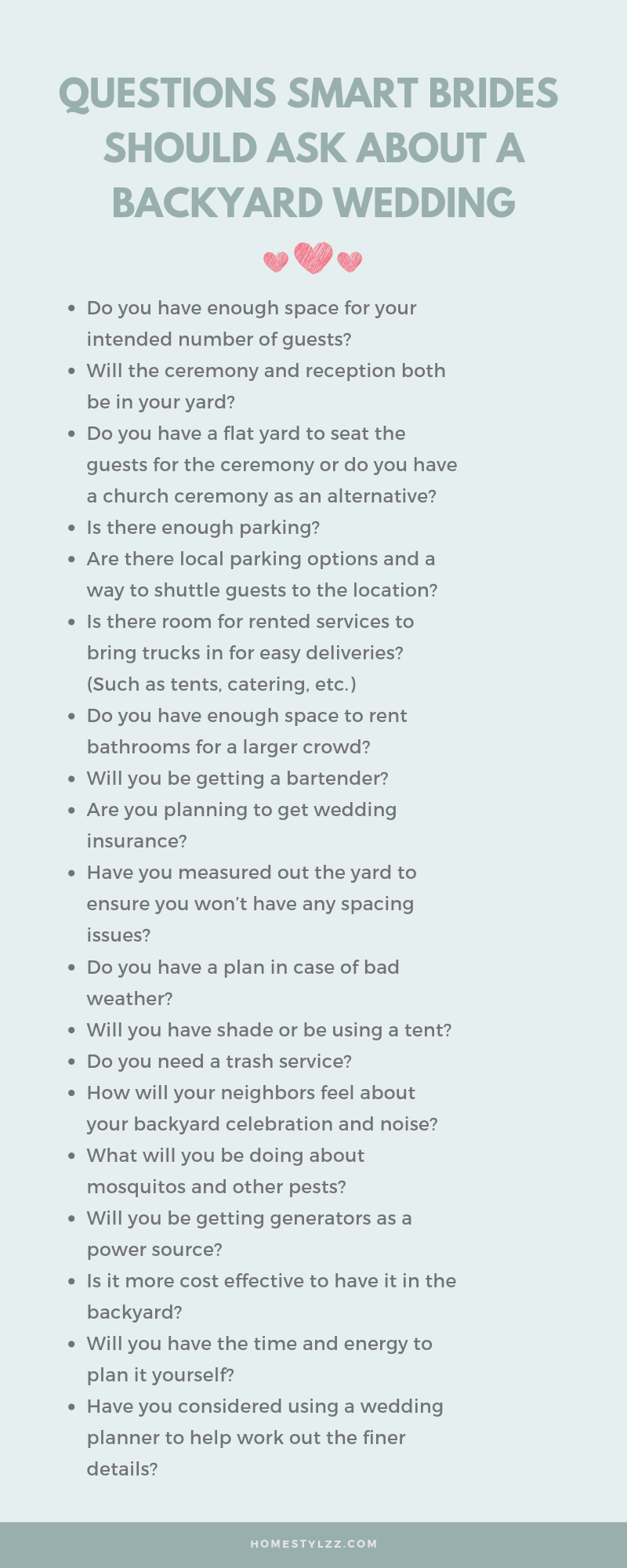 backyard wedding checklist