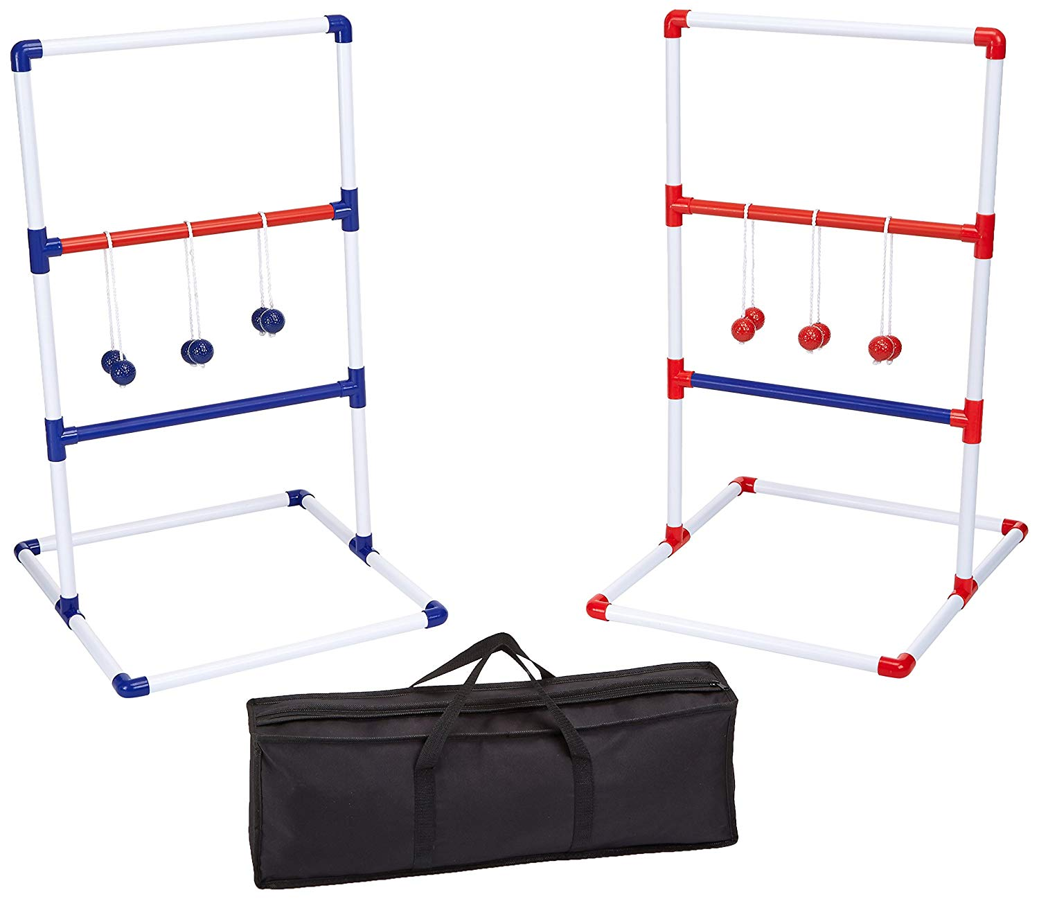 AmazonBasics Ladder Toss Outdoor Lawn Game Set with Soft Carrying Case