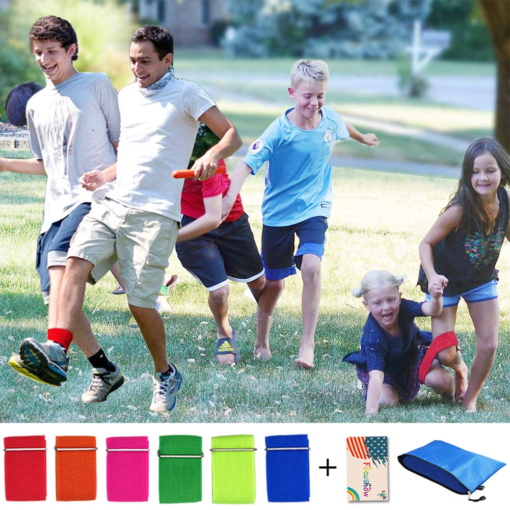 Durable 6 PCS 3 Legged Race Bands Outdoor Carnival Game for Kids Adults Family Relay Race 1
