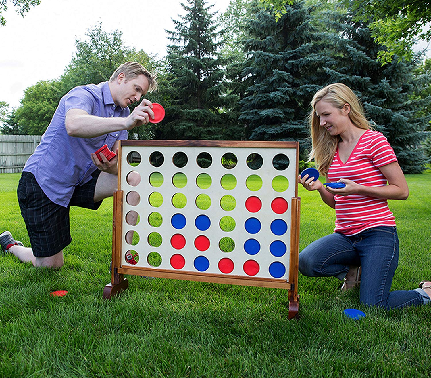 Yard Games Giant 4 Connect in a Row barbeque party game