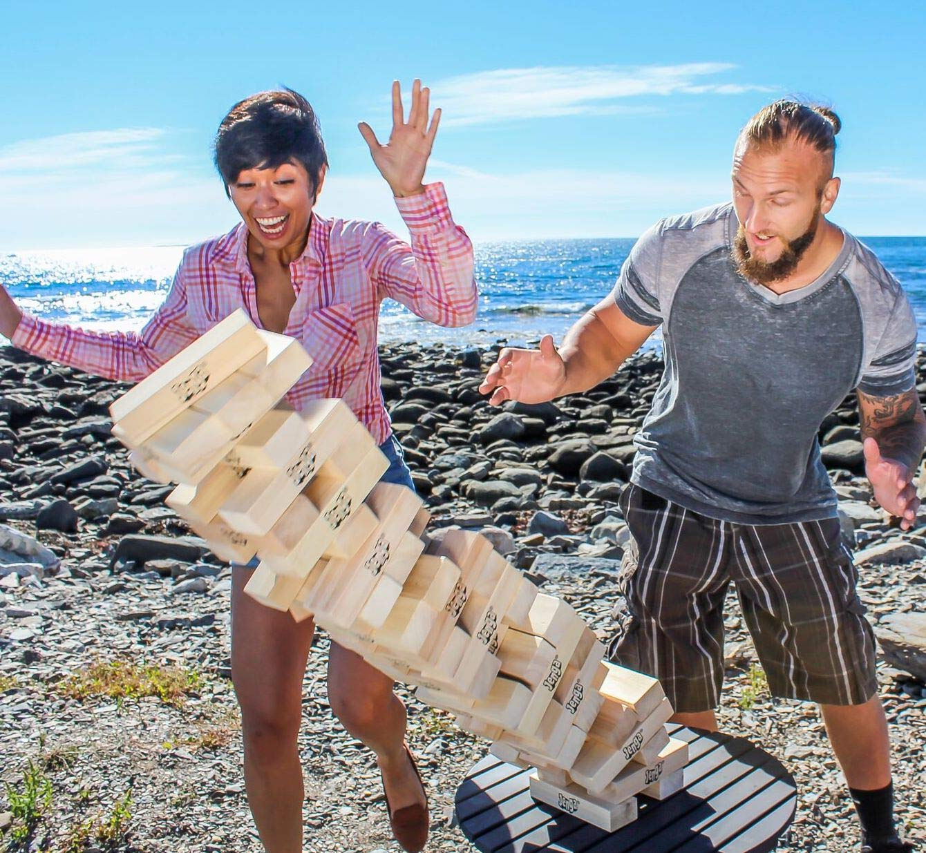 barbeque party games - giant jenga